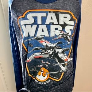 Star Wars Long sleeved burn out T-shirt
